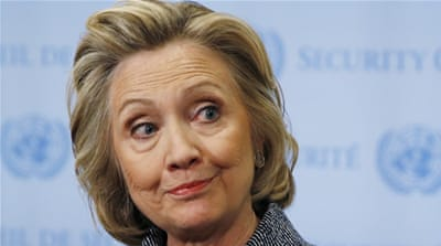 Hillary Rodham Clinton is the first woman and former first lady to run for the US president [Reuters]