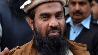 Lakhvi is accused of being the mastermind of the 2008 gun and bomb attacks in Mumbai which claimed the lives of 166 people [AFP]