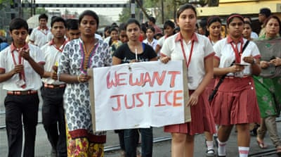 The rape of the 71-year-old nun led to protests in Kolkata's Christian community [AFP]