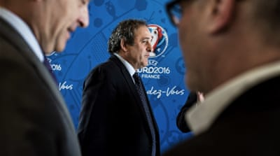 Platini confirmed in 2014 that he will not be supporting Blatter [Getty Images]