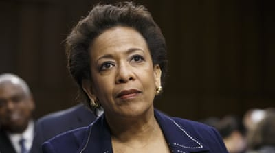 If confirmed, Loretta Lynch, a high-ranking prosecutor in the Department of Justice, would be the first black female attorney general [AP]