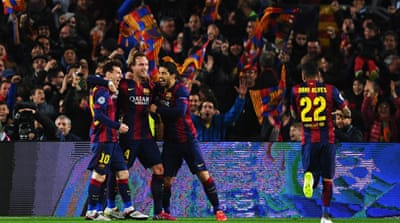 Barcelona had come into the return-leg 2-0 up [Getty Images]