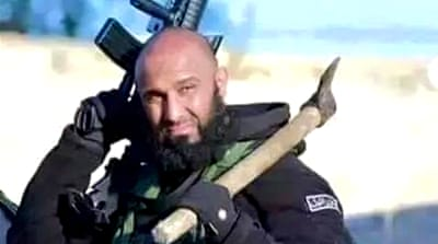 Abu Azrael's pledge to reduce ISIL fighters to 'flour' has become a rallying call among Shia fighters [Facebook]