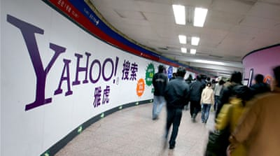 Yahoo was embroiled in controversy after it handed authorities details of a Chinese journalist who was sentenced to 10 years in prison [AP]
