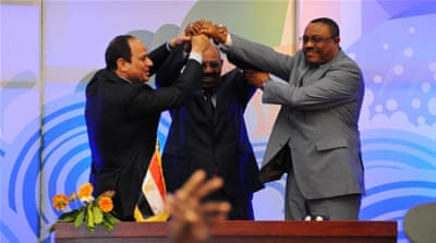 "Sudan's President Omar al-Bashir hailed the deal as ""historic"" [AFP]"