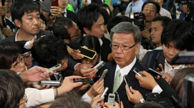 Okinawa governor orders halt on US airbase construction