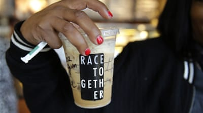 The Starbucks Race Together campaign was inherently marred by myopia, write Ortiz and Beydoun [AFP]