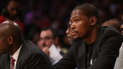 Durant has missed 41 of 68 games for his team this season [Getty Images]