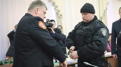 Ukraine arrests officials on live TV in bribery case