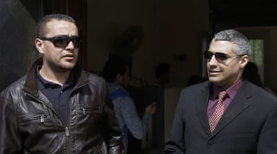 Mohamed Fahmy and Baher Mohamed are accused of supporting the Muslim Brotherhood [AP]