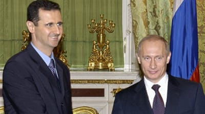 Putin reportedly confirmed reports that Moscow has been providing major military support to the Syrian government [EPA]