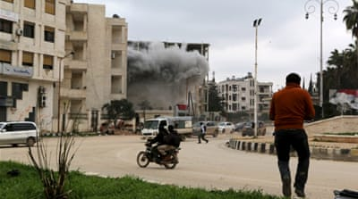 The Syrian government has reportedly launched destructive attacks on Idlib city since rebels captured it [Reuters]