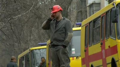 Rebel authorities in Donetsk said in a statement that the blast occurred at a depth of more than 1,000 metres [AP]