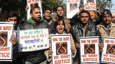 The brutal gang rape of a student in 2012 in Delhi triggered street protests across India [AFP]