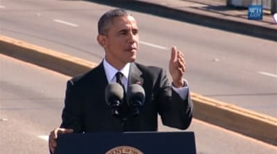 Obama marks anniversary of Selma civil rights march