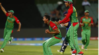 Bangladesh's victory confirms a spot in the quarter finals, and tops off a disastrous tournament for England [Reuters]
