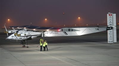 Solar-powered Swiss plane attempts flight around world