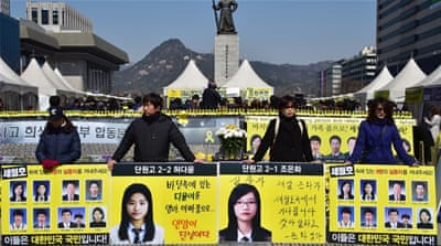 "Nine victims of the ""Sewol"" ferry disaster still remain missing [AP]"