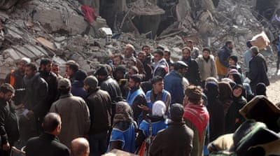 About 18,000 residents are estimated to remain in Yarmouk after many fled the fighting [Reuters]