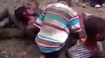 Video depicting alleged gruesome attack of locals against foreigners goes viral [Screengrab]