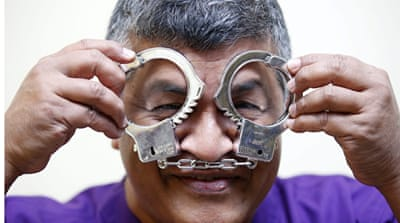 Malaysian political cartoonist Zulkiflee Anwar Haque, or 'Zunar' could be jailed for 43 years, but he continues to draw [EPA]