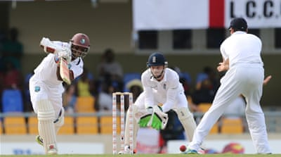 Chanderpaul has faced 98 deliveries for his unbeaten 29 [Reuters]