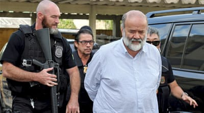 Vaccari was arrested in connection with the corruption scandal of the state oil company Petrobras [EPA]