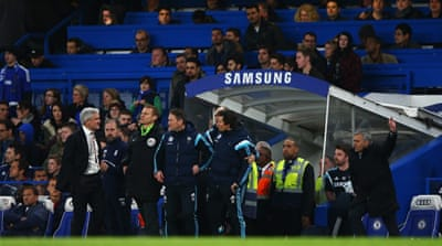 Chelsea are also the second worst team when it comes to the behaviour of club staff on the touchline [GEtty Images]