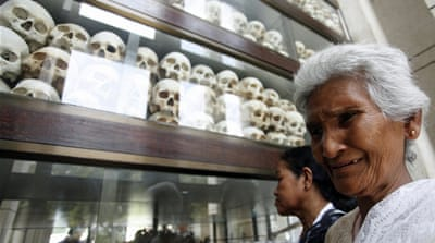 Some two million Cambodians are estimated to have died by starvation and forced labor during the Khmer Rouge regime [EPA]