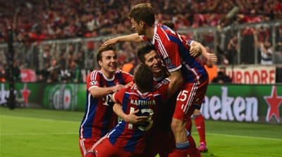 Bayern scored the first three goals in just 27 minutes [Getty Images]