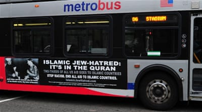 Similar AFDI advertising campaigns have run in other US cities, including in Washington DC [File: AFP]