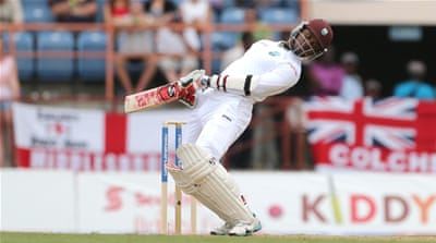 Samuels has hit 13 fours in his innings so far [Reuters]