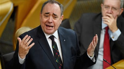 New leader Nicola Sturgeon and former chief Alex Salmond - the SNP's power couple [Reuters]
