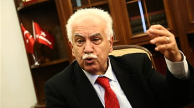 'Everybody should be able to say whatever they want,' said Turkish politician Dogu Perincek [Ozgur Teksen/Al Jazeera]