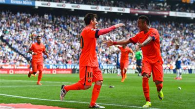 This was Barcelona's seventh consecutive La Liga win over Espanyol [Getty Images]