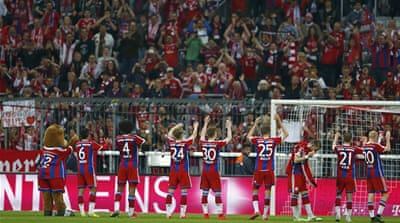 Bayern were celebrating the imminent title after their win on Saturday [File Reuters]