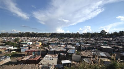 On Saturday at least 120 foreign nationals returned to the marathon informal settlement where some of the violence took place [Azad Essa/Al Jazeera]
