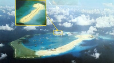 Subi Reef is part of the Spratly islands, a chain of outcroppings in South China Sea claimed by the Philippines [EPA]