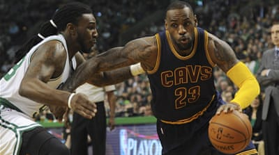 LeBron James also handed out eight assists [Bob DeChiara-USA TODAY Sports]