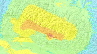 Nepal earthquake potential impact map