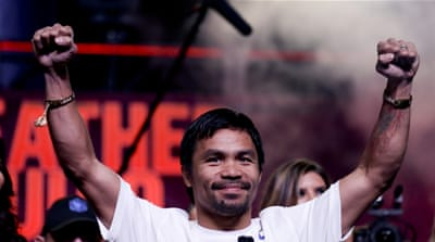Pacquiao lost by a unanimous points decision [AP]
