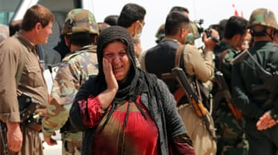 Most of the freed captives were in poor health and bore signs of abuse and neglect, a Peshmerga commander said [AFP]