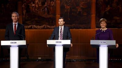 Leaders clash in Scottish election debate