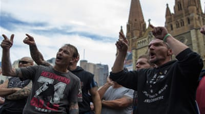 Australia protests [Snehargho Ghosh/Al Jazeera]