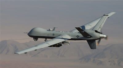 A US Air Force MQ-9 Reaper armed with laser-guided munitions and Hellfire missiles [AP]