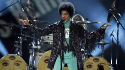 A Prince T-shirt sold at a concert in Baltimore [AP]