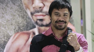 Pacquiao says his shoulder will take six months to heal [Reuters]