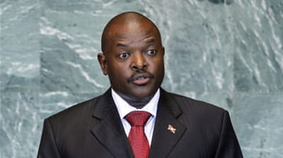 Burundi's crisis surrounds Nkurunziza's bid to stands for a third consecutive five-year term in office [AP]
