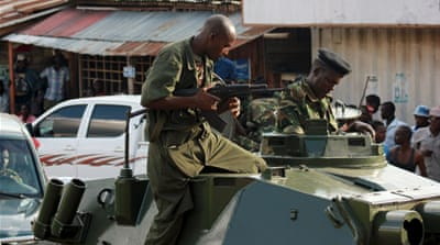 Gunfire and explosions rock Burundi amid coup claims