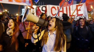 Deaths in Chile student protests